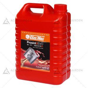 Olio PROSINT 2 EVO OLEOMAC 5 Lt per motore a 2 tempi a base sintetica con ottima lubrificazione alle alte temperature.