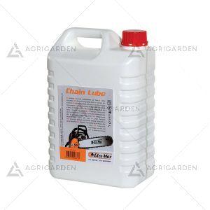 Olio catena CHAIN LUBE OLEOMAC 5 Lt facilmente biodegrabile con ottima resistenza alle basse temperature.
