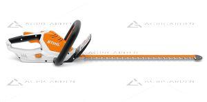 Tagliasiepe a batteria Stihl HSA 45 molto leggero per uso privato con lama da 50cm.