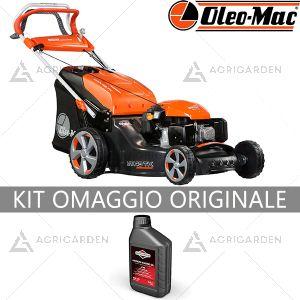 Rasaerba a scoppio trazionato OleoMac MAX 48 TK ALLROAD ALUMINIUM per uso professionale con taglio da 46cm con copertura fino a 2200m2.