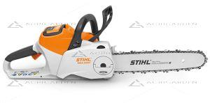 Motosega a batteria Stihl MSA 220 C-B la professionale top di gamma, peso di 3,6Kg e barra da 35cm.