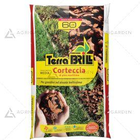 Corteccia di pino marittimo TerraBrill sacco da 60lt per pacciamatura e decoro di aiuole.