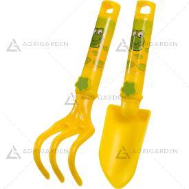 Set attrezzi da giardinaggio in plastica per bambini giallo Stocker Art 2309.