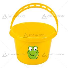 Secchiello in plastica per bambini giallo Stocker Art 4927 con capacità di 1 lt.
