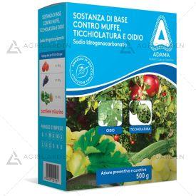 Fungicida SODIO IDROGENOCARBONATO confezione da 500g contro Ticchiolatura, Oidio, Muffe.