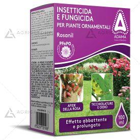 Insetticida e fungicida ROSANIL confezione da 100ml per piante ornamentali e rose.