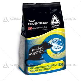 Esca rodenticida in pasta fresca KOLLANT BRODY 2.5 PASTE BLU confezione da 150gr.