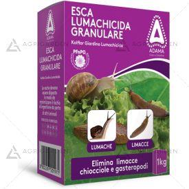 Esca lumachicida granulare KOLFLOR confezione da 1Kg per piante ornamentali e colture floricole.