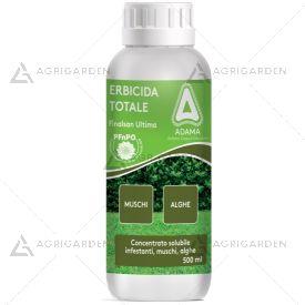 Erbicida Totale FINALSAN ULTIMA flacone da 500ml contro alghe, muschi e infestanti generiche.