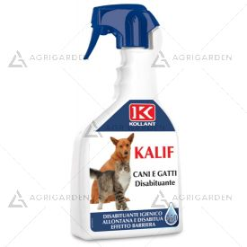 KALIF - DISABITUANTE CANI E GATTI flacone da 750ml crea una barriera olfattiva.