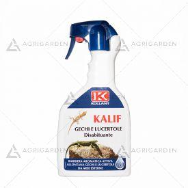 KALIF - DISABITUANTE GECHI E LUCERTOLE flacone da 750ml crea una barriera olfattiva.