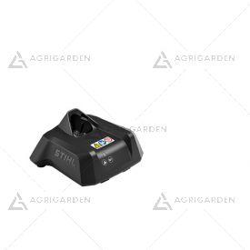 Caricatore Standard AL 1 Stihl compatibile con la batteria AS 2, con indicatore dello stato di funzionamento al LED.