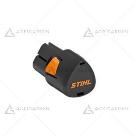 Batteria Stihl AS 2 agli ioni di litio da 28 Wh compatta, leggera e potente.