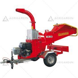 Biotrituratore a scoppio Caravaggi BIO 230 con motore Honda benzina da 20,8HP con diametro di taglio massimo 10cm.