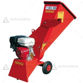 Biotrituratore a scoppio Caravaggi BIO 90 con motore Honda benzina da 8,4HP con diametro di taglio massimo 8,0cm.