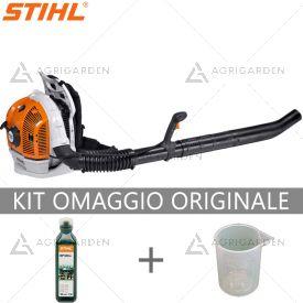 Soffiatore a scoppio spalleggiato Stihl BR 600 estremamente potente e comfortevole per uso professionale.