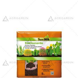 TerraBrill Substrato CACTACEE sacco da 5kg ideale per piante grasse.