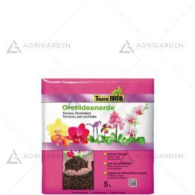TerraBrill Substrato ORCHIDEE sacco da 5kg ideale per piante epifite e semi-epifite.