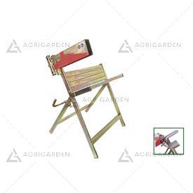 Cavalletto tagliatronchi Logiko in acciaio zincato per il taglio di legna