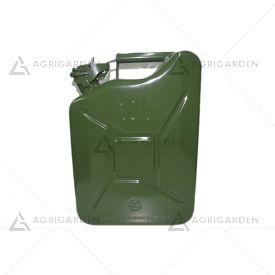Tanica 10 lt In metallo per combustibile, carburante, omologata un.
