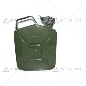 Tanica 5 lt. In metallo per combustibile, carburante omologata un.
