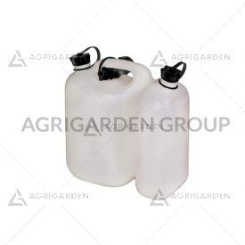 Tanica combinata eco 5,5 litri + 3 lt, per miscela ed olio, con beccuccio