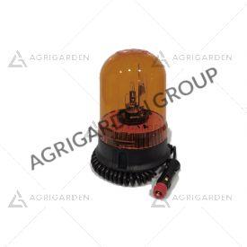 Lampeggiante CE base magnetica e ventosa 12 v con lampadina Calotta girofaro arancio per trattore
