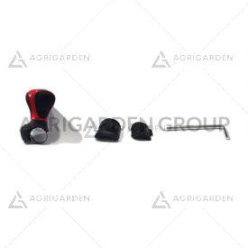 Pomello sterzo volante per easy rider rosso - nero