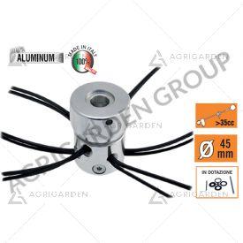 Testina multifilo mini-mulcher 12 fili con attacco universale per decespugliatore