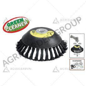 Spazzola universale per decespugliatore green cleaner con setole in acciaio