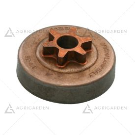 Rocchetto pignone campana frizione 3/8 z6 commerciale per motosega Alpina, Castelgarden, GGP 4121200
