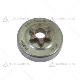 Rocchetto pignone campana frizione 3/8 z6 commerciale per motosega Alpina, Stiga, GGP 4121208