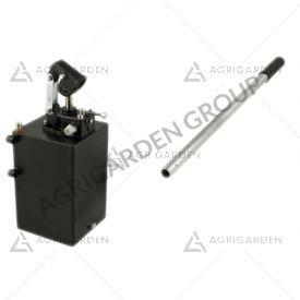 Pompa a mano 25 cc doppio effetto con rubinetto di inversione completa di serbatoio