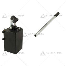 Pompa a mano 25 cc semplice effetto con volantino di discesa completa di serbatoio