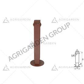 Piede idraulico con valvola di blocco per rimorchio agricolo