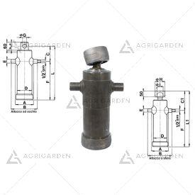 Cilindro telescopico idraulico per rimorchi agricoli e industriali