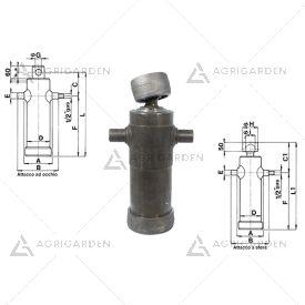 Cilindro telescopico idraulico per Carraro