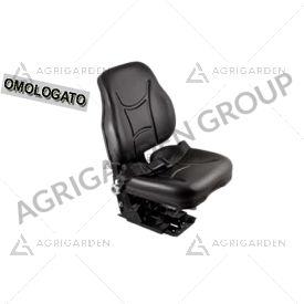 Sedile a base piana omologato con regolazione in altezza con cinture per trattore