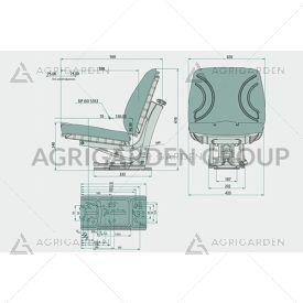 Sedile meccanico pcv con regolazione peso