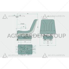 Sedile CE meccanico pvc con regolazione altezza per trattore