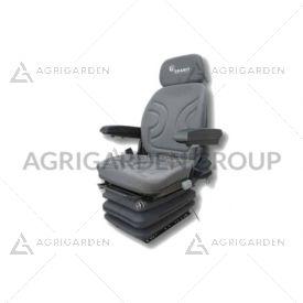 Sedile in tessuto grigio sospensione pneumatica con regolazione schienale, altezza per trattore