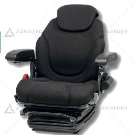 Sedile in tessuto nero super comfort con regolazione schienale