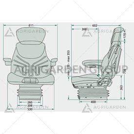 Sedile Grammer MSG 95al/731 poggiatesta, aps, in sospensione pneumatica per trattore
