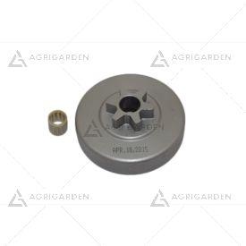 Kit rocchetto pignone campana frizione 3/8 motosega originale Emak, Efco 131, 132 s Oleomac 931, 932