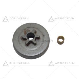 Kit rocchetto pignone campana frizione 3/8 motosega originale Efco: Oleomac: 136 s, 137, 140, 141