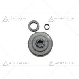 Kit rocchetto pignone campana frizione 325 motosega originale Efco: 152, mt 5200 Oleomac: 952, gs520