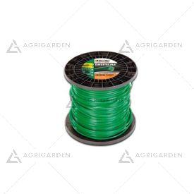 Filo greenline originale Emak, Efco, Oleomac quadrato 3,5 mm, 129 metri per testina decespugliatore