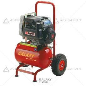 Motocompressore D'aria carrellato a scoppio Zanon GALAXY T-250 da 5,5HP con serbatoio da 20Lt.