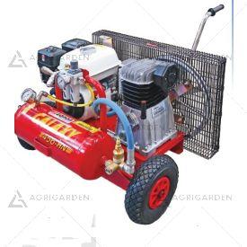 Motocompressore D'aria carrellato a scoppio Zanon GALAXY T-456 da 5,5HP con serbatoio da 10Lt.