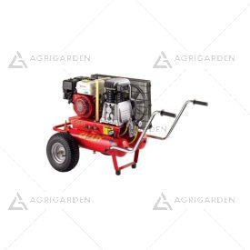 Motocompressore D'aria carrellato a scoppio Zanon GALAXY T-555 da 6,5HP con 2 serbatoi da 11Lt.